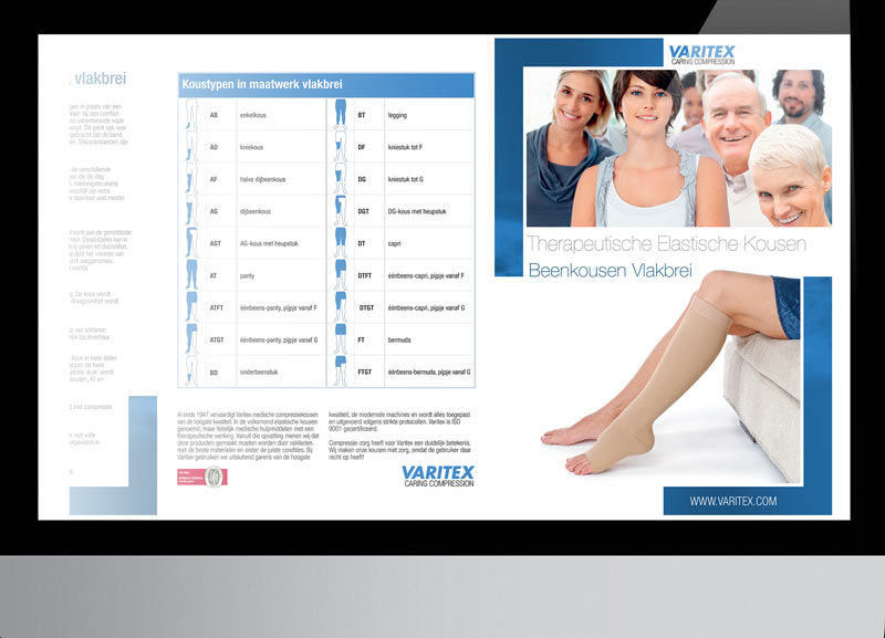 Varitex Therapeutische Kousen Diverse uitingen: ontwerp, productie en drukwerk